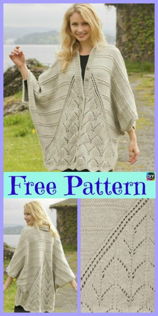 10 Beautiful Knit Blanket Sweater Free Patterns #blanketsweater
