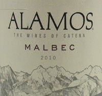 The Alamos Malbec has dark, blackish purple color. The nose shows ripe black fruits, black pepper spice and floral notes. The mouthfeel is full yet soft and supple, with black raspberry and currant flavors mingled with notes of sweet spice and a touch of leather. The finish is long and persistent with soft, sweet tannins.