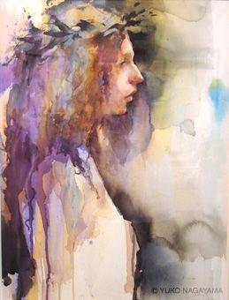 Portrait Aquarelle Yuko Nagayama 画像あり 画 水彩