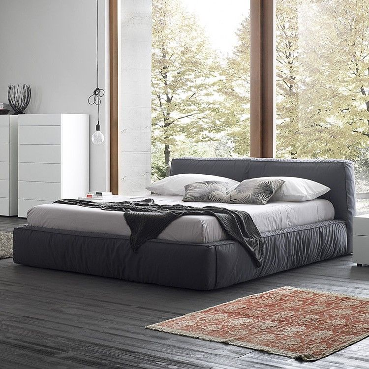 Rossetto Twist Bed Fabric Bedroom Furniture Ultra Modern