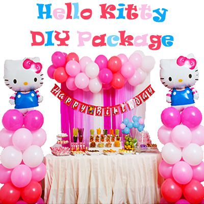 Hello Kitty DIY Backdrop Package Purchase the DoItYourself Pack