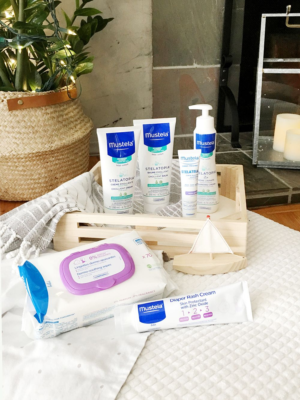 Lisa And Her Bundle Of Joy Were Gifted These Awesome Goodies From Mustela Stelatopia Emollient Cream Balm Safely Gently Cleanses Protects Babys Face Body Leaving It Feeling Soft Comfortable