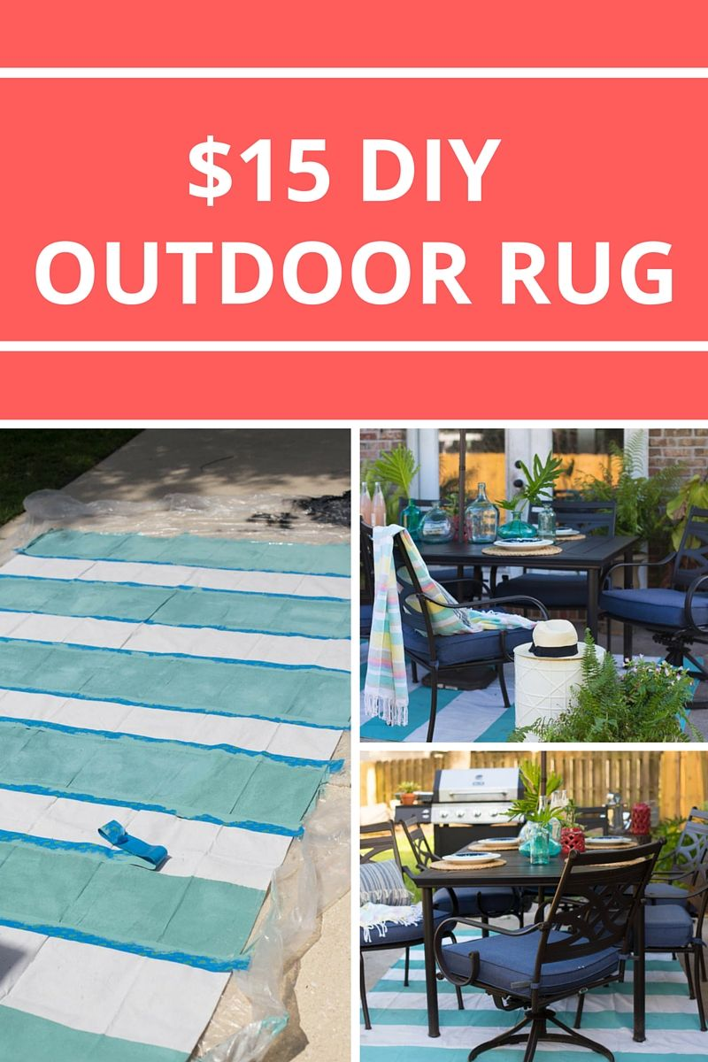 Inexpensive Area Rugs: Painted Rug From A Drop Cloth
