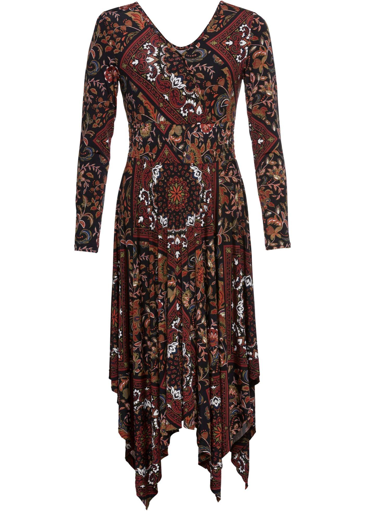 Jersey Kleid Kleider Kleid Mit Armel Und Cooler Style