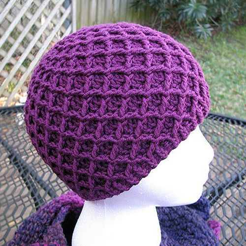 Diamond Ridges Hat - Free Pattern | Hebrew for Kids | Pinterest | Häkeln