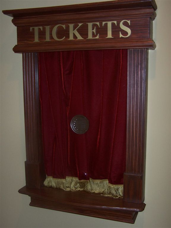 Faux Ticket Booth Idea In Home Theater Home Theater Home