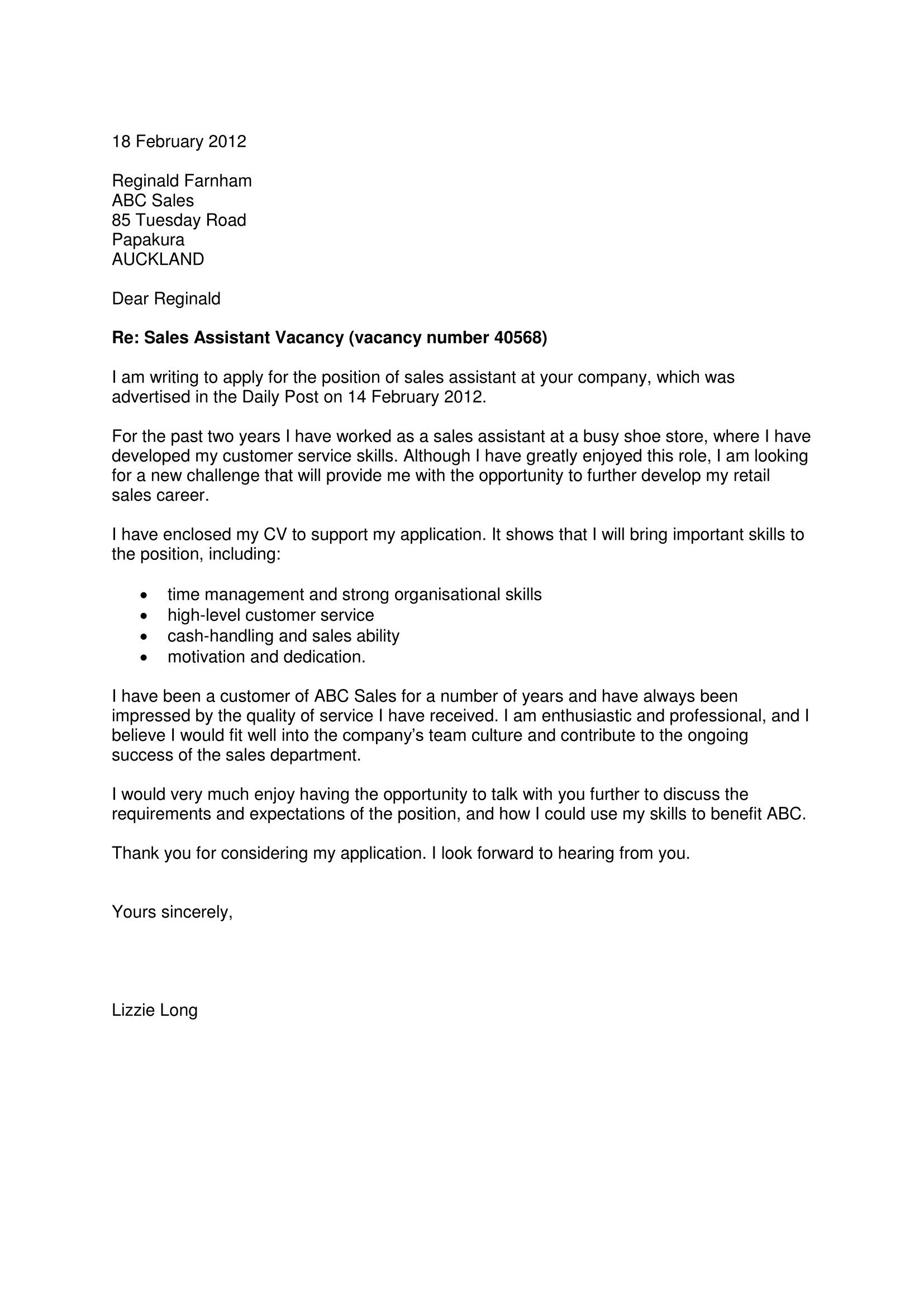 Cover Letter Template Nz Cover letter template, Cover