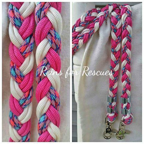 Fairytale White Fuschia Riding Reins Fairy Tales Paracord