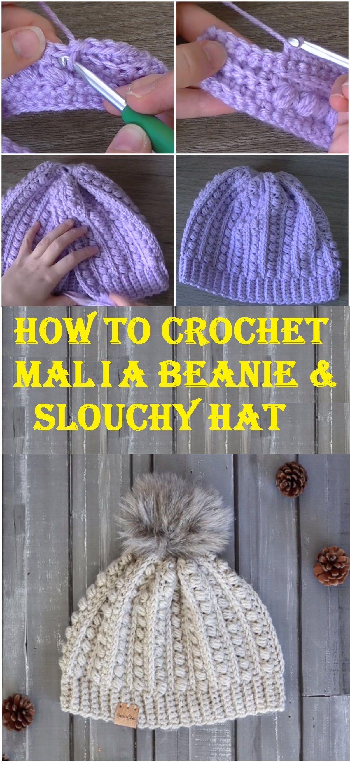 Crochet Malia Beanie + Slouchy – Design Birdy | Crochet | Pinterest ...