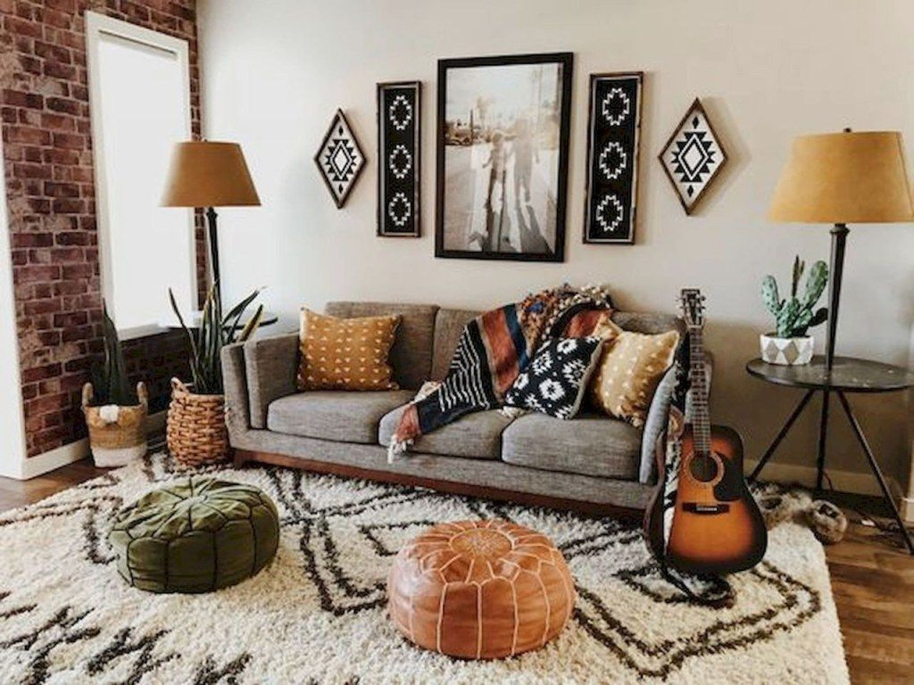 Rustic Bohemian Living Room Decor Ideas