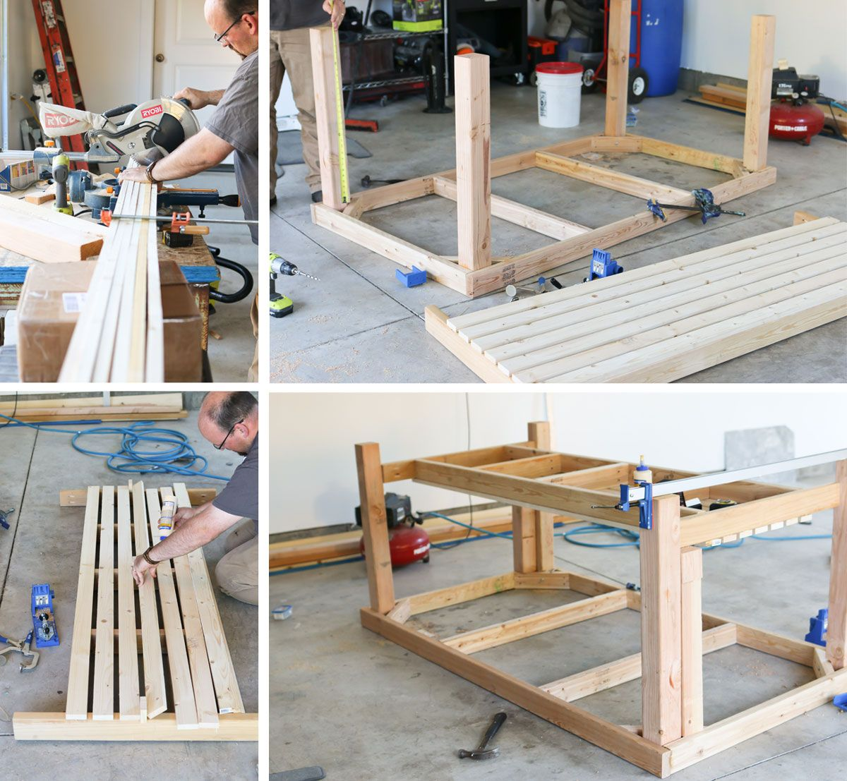 Diy Rolling Work Table Kitchen Island Work Table Diy