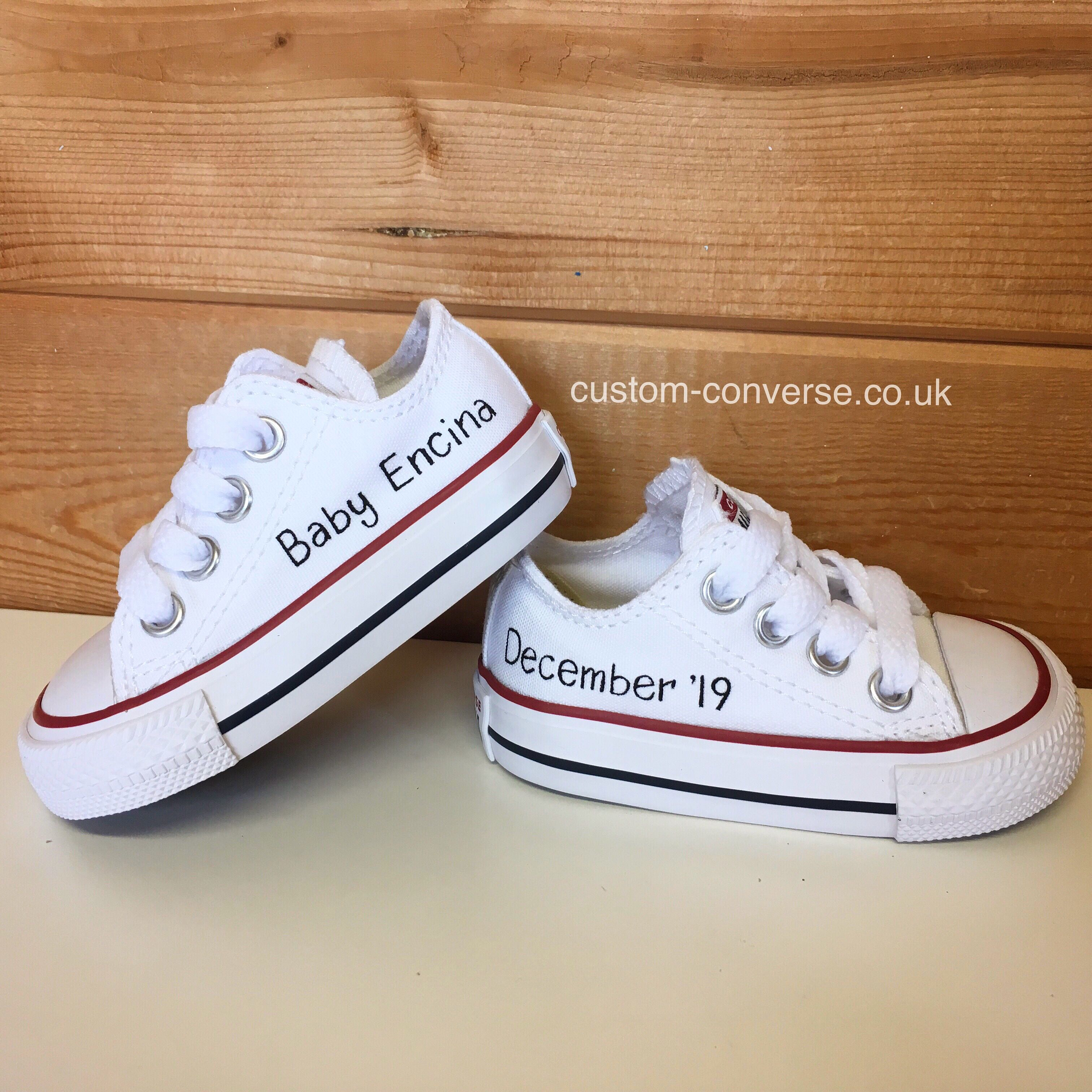 Baby White Converse Pram Shoes Personalised Baby Converse 537979bf Newsdabidjan