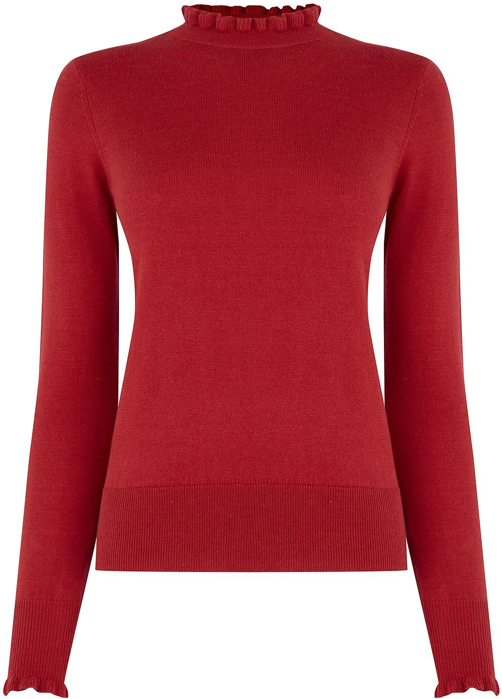 0b3a7a5c575c Womens carmine cute frill knit from Oasis - £28 at ClothingByColour.com