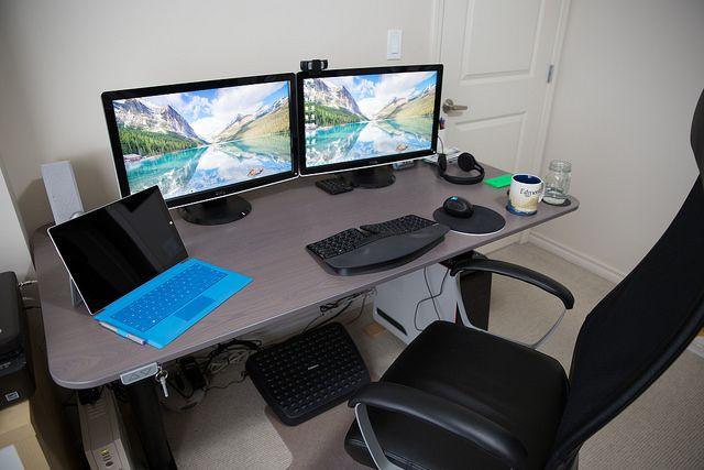 Making My Workspace More Ergonomic With A Standing Desk Mastermaq S Blog Standing Desk Chair Ikea Bekant Ikea Bekant Desk