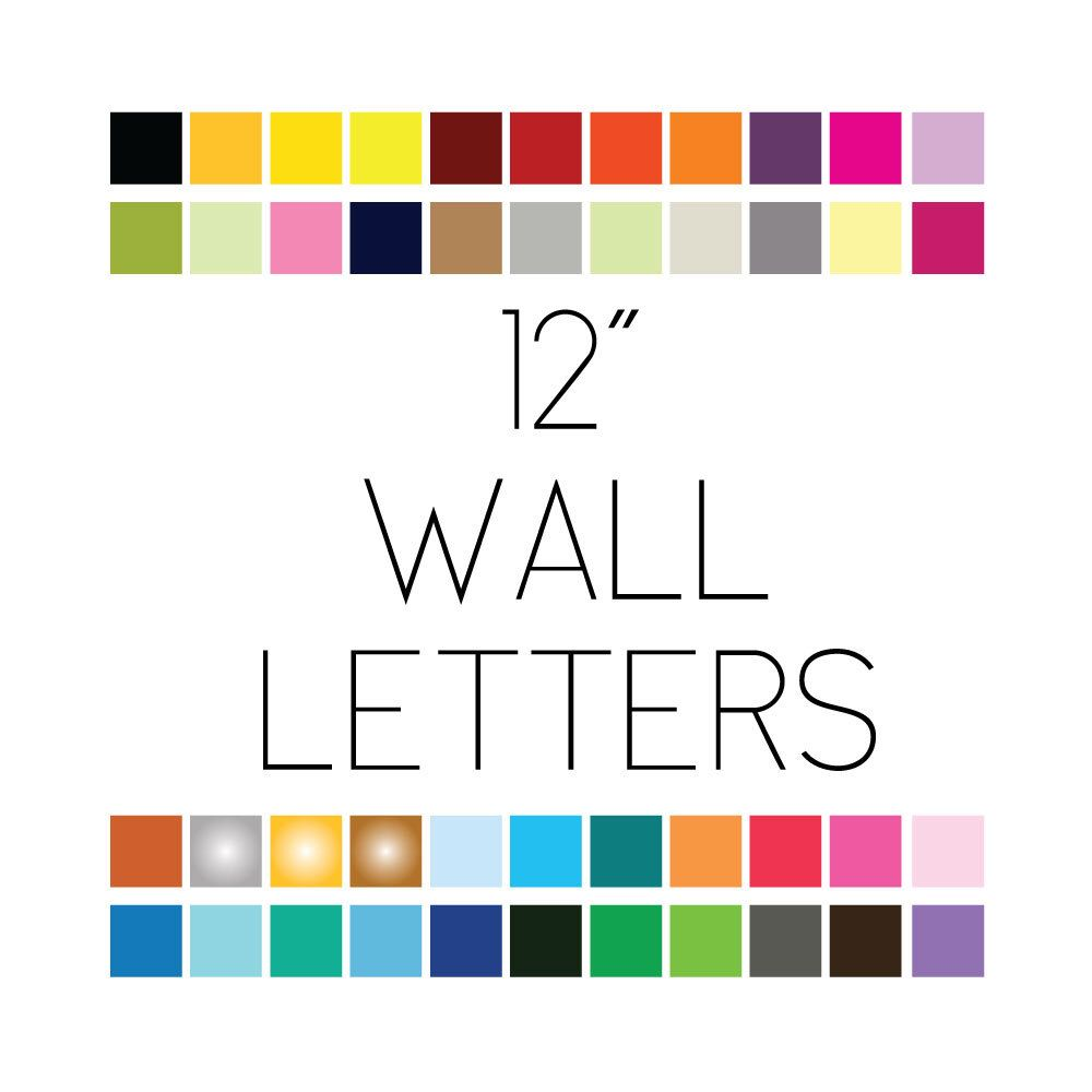 12 Wall Letters Vinyl Decal Removable Wall Safe Lettering 12 Inch Letter Wall Wall Safe Removable Wall