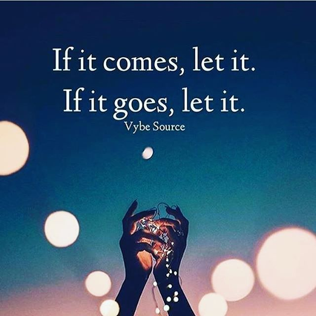 Let Go Quotes If It Comes Let It If It Goes Let It Go With The