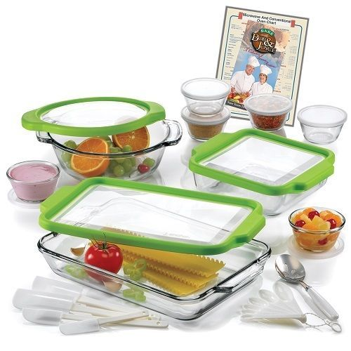 Glass Tupperware Set Food Storage Containers W Lids 10 PC