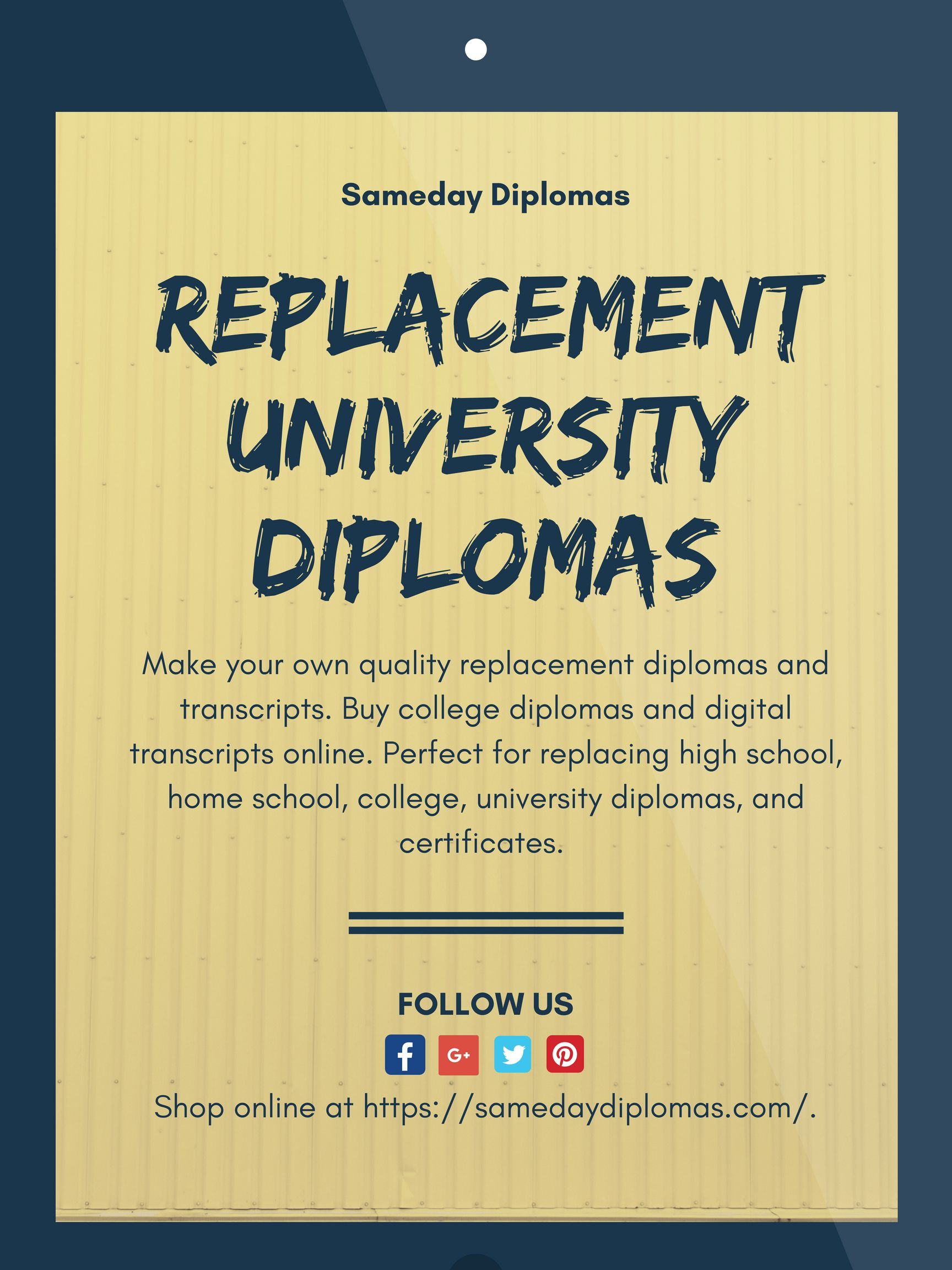 Lost or damaged your certificate? Get replacement of your university  diplomas at affordable rates. Order today!