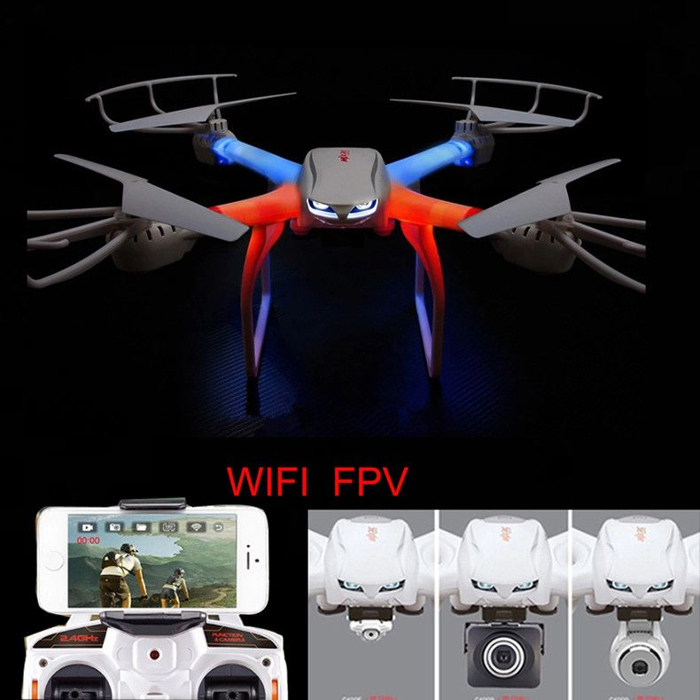 Free shipping Profession Drone X101 RC Quadcopter 2.4G 6-Axis RC Helicopter C4005 HD Camera(FPV)  VS SYMA X8W X8G Y100 - Mens' Toys Online