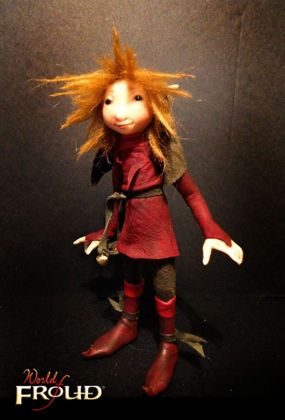 Little Red Haired Elf  Armatured Doll Figure by Wendy by froud