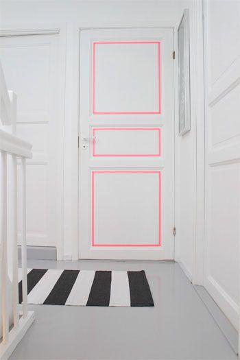 Decorando las puertas con celos neón   Muebles   Pinterest   Las ...