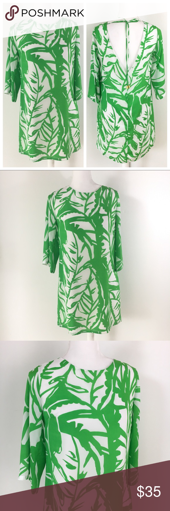 Lilly Pulitzer Target Green White Palm Shift Dress Lilly Pulitzer Target Dresses Printed Shift Dress [ 1740 x 580 Pixel ]