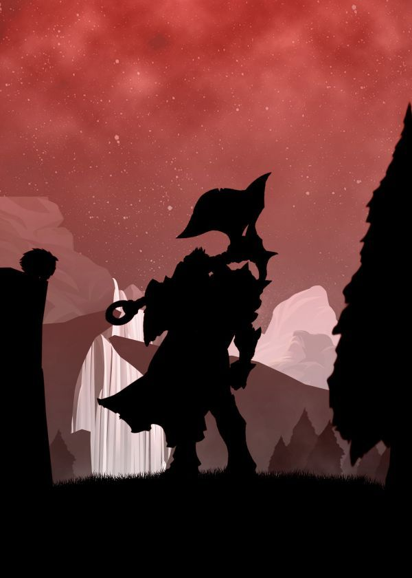 "League Of Legends Silhouette Characters Darius #Displate artwork by artist ""Alexandros Losifidis"". Part of… 