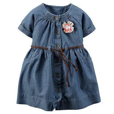 Carter's Belted Denim Dress - Baby Girl