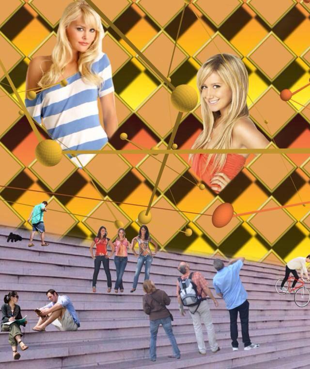 Die Treppe in der Stadt // The staircase in the city  - Diese  Collage wurde erstellt von Gerd Schremer