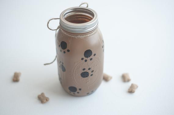 Dog Treat Jar Dog Food Storage Dog Treat Container Dog Lover