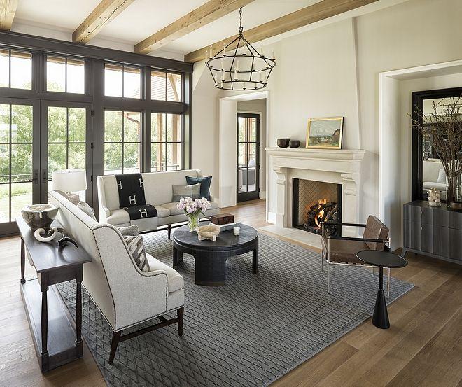 Benjamin Moore Collingwood OC-28 Living Room With Benjamin
