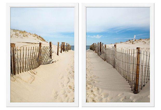 Beach Path On Onekingslane Com With Images Beach Canvas Wall
