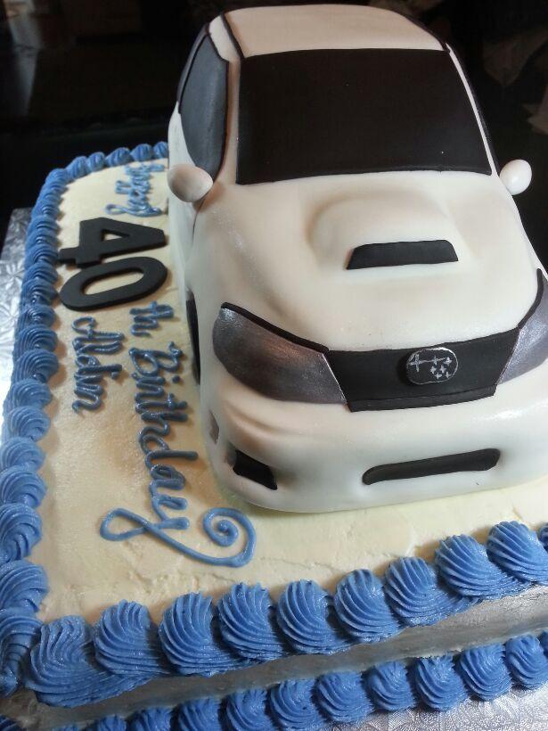 Subaru Car Birthday Cake by wwwstarrcakescom Subaru