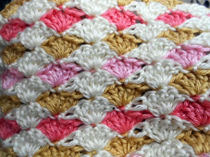 5 Beautiful Free Shell Stitch Crochet Afghan Patterns Crochet