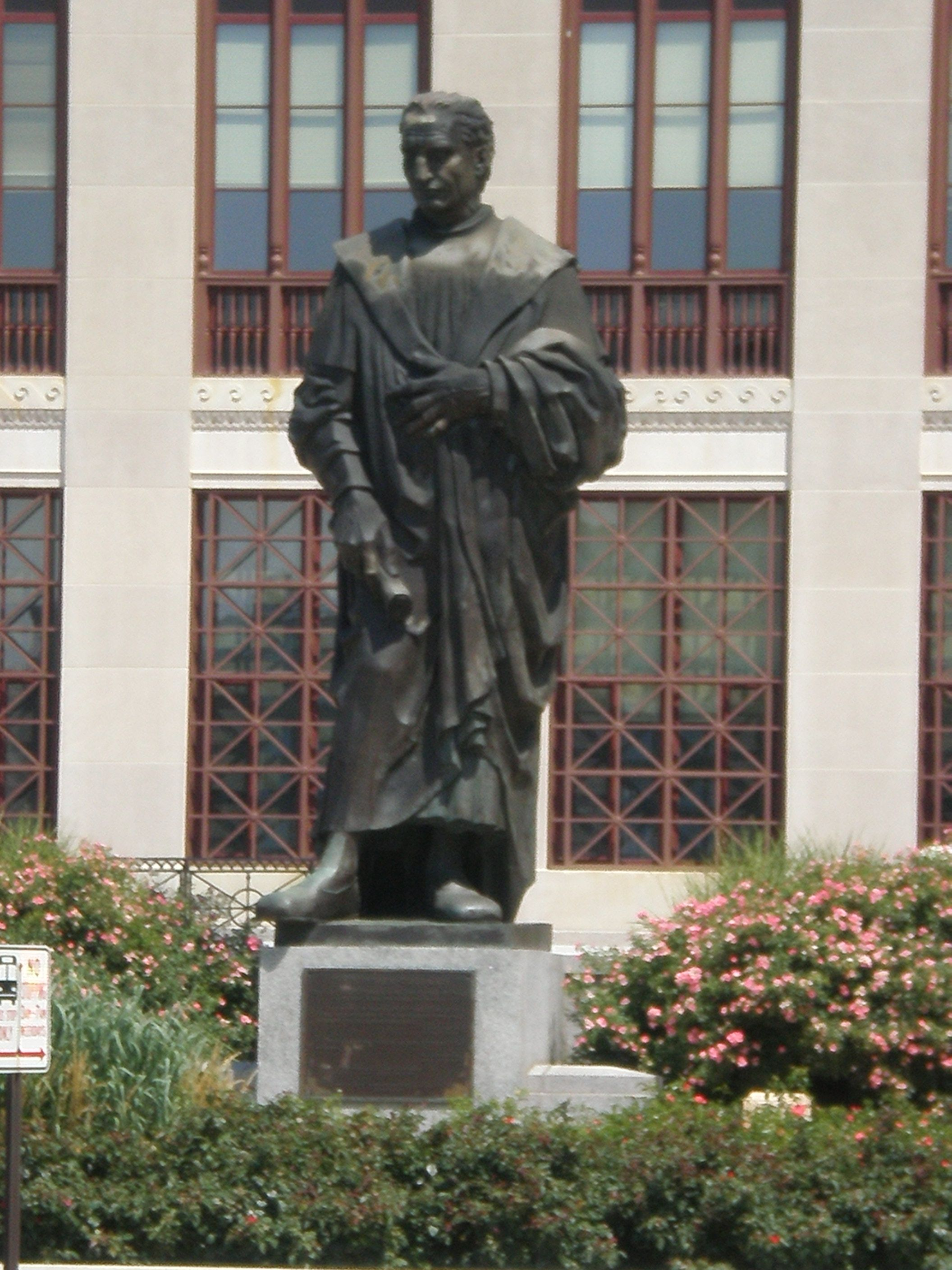 The christopher columbus statue in front of columbus city for T shirt printing westerville ohio