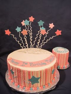 fireworks cake Westons 1st birthday ideas Pinterest Fireworks