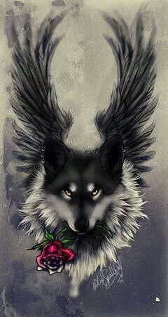 Wolf Angel Wolf Wallpaper Wolf Love Wolf Drawing