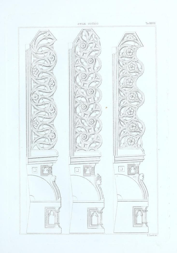1859 - Raccolta de' migliori ornamenti del medio evo e profili di architettura Bizantina by Heideloff, Carl Alexander von