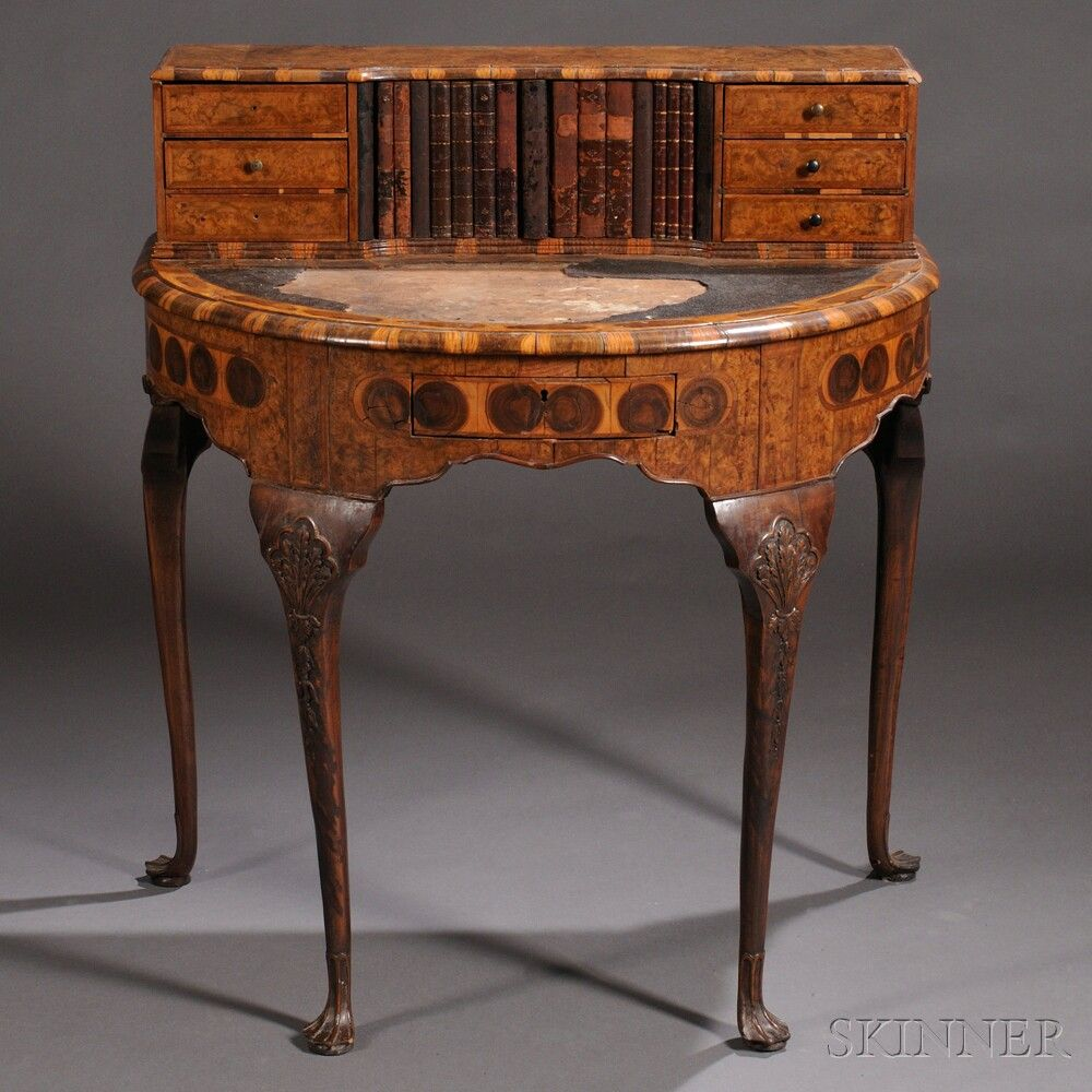 Veneered Writing Desk Furniture Bookcases Desks Antique