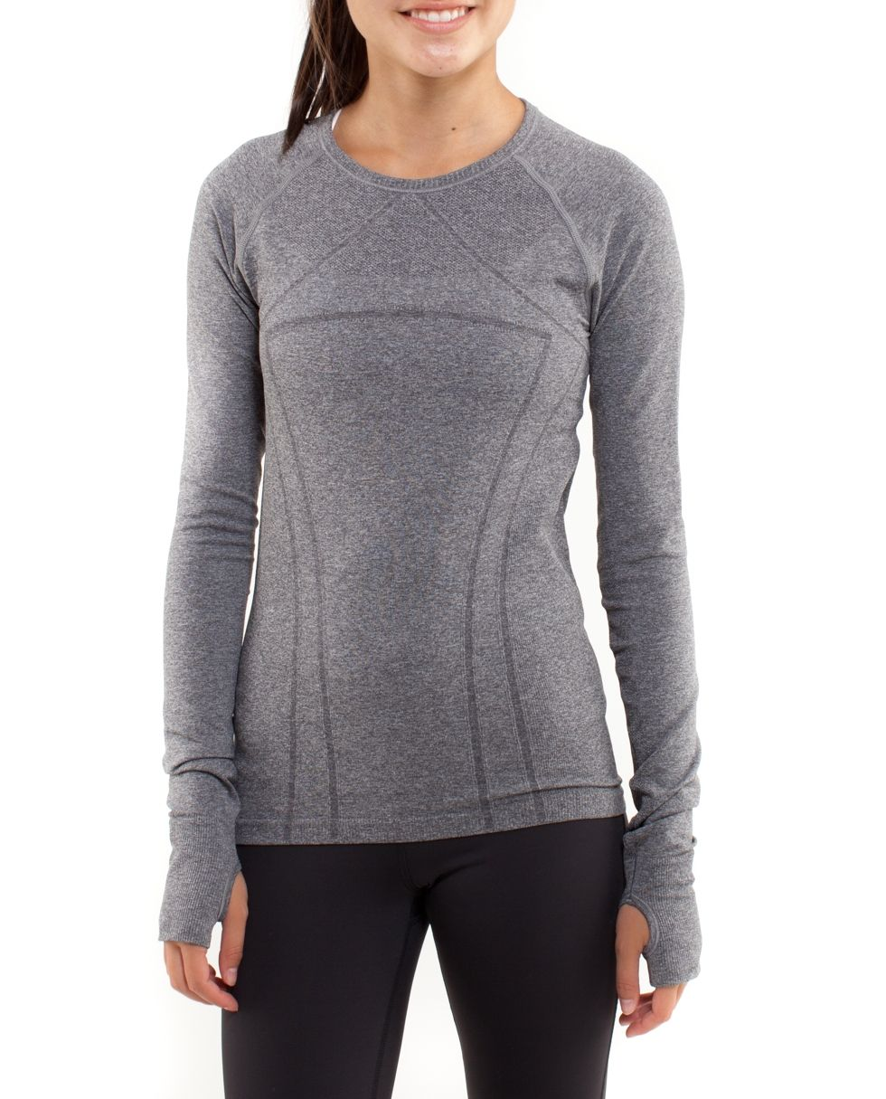 dab327e6 Awesome fly tech long sleeve grey tee! Would go great with this black  shorts! from ivivva