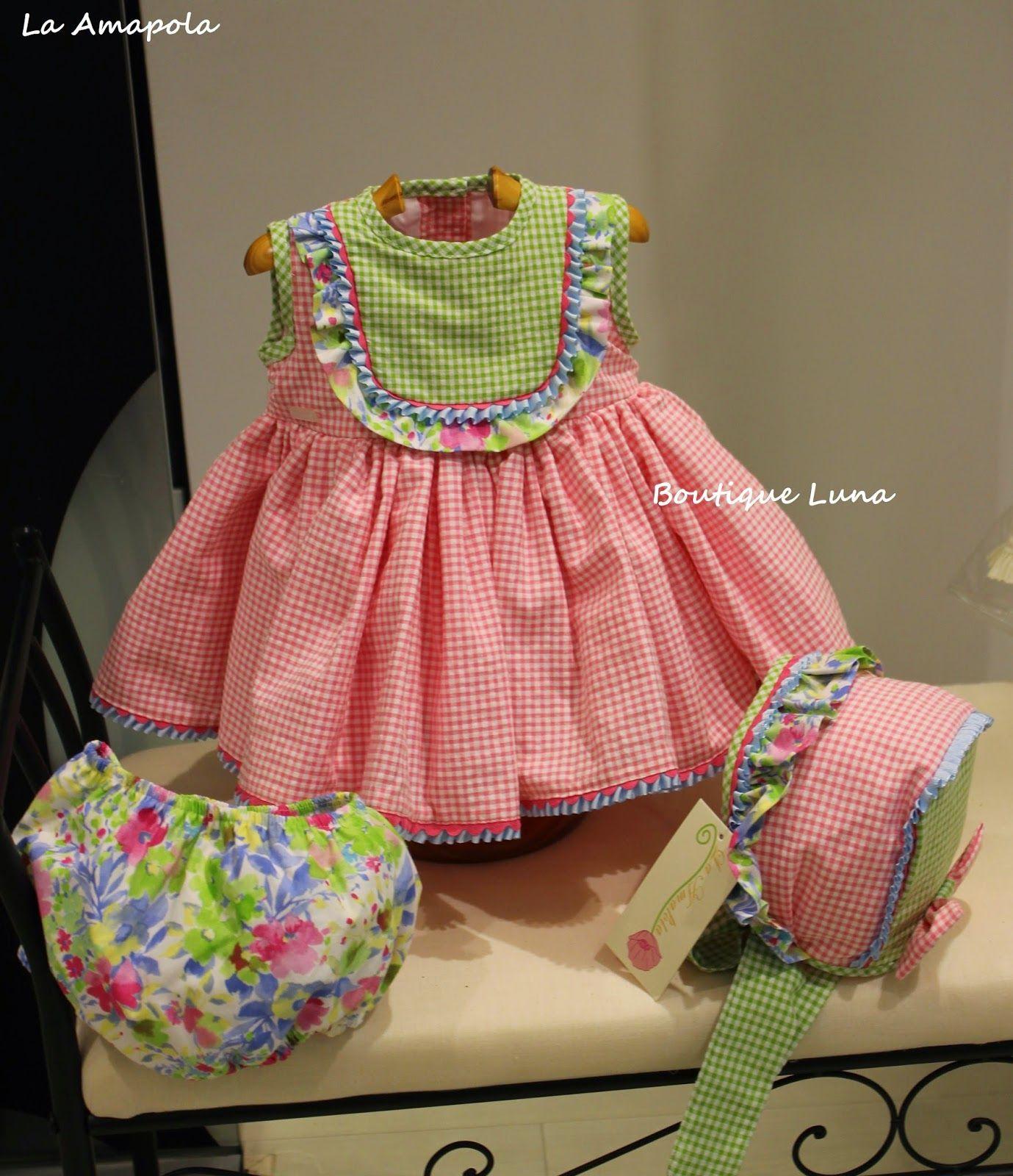 Pink dress baby  BOUTIQUE LUNA  LA AMAPOLA al   childrens clothing  Pinterest