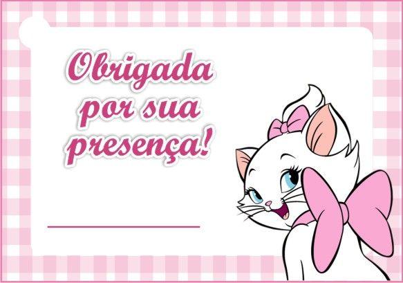 Mini Kit Personalizado Gatinha Marie para imprimir | Marie ...