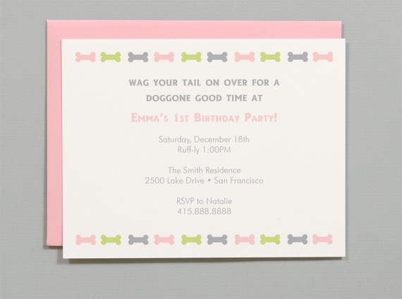 DogThemed Birthday Party Invitations and ideas links to blogs – Dog Themed Birthday Party Invitations