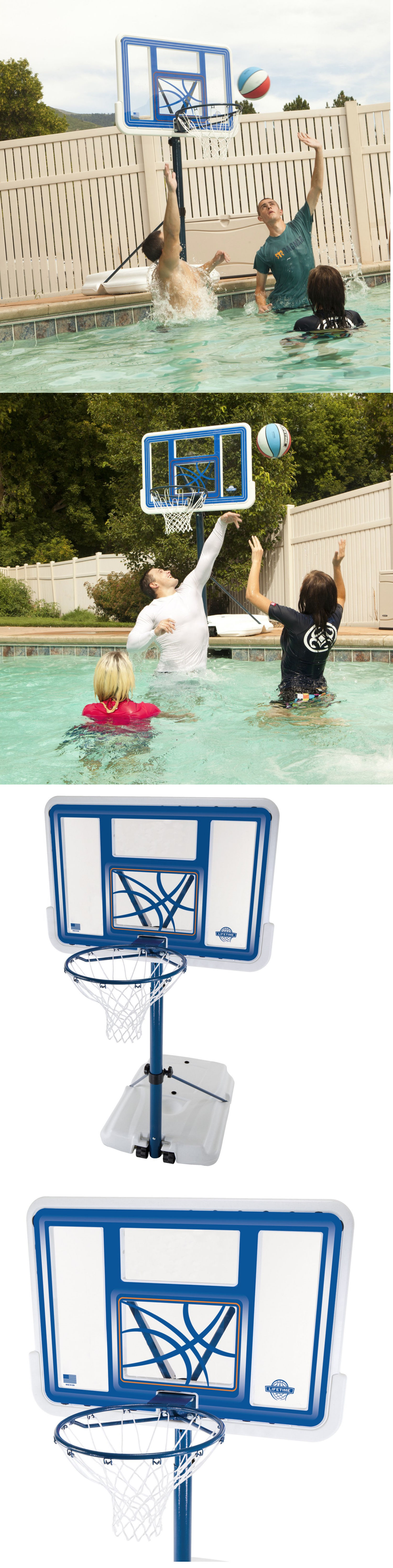 backboard systems 21196 basketball hoops for pools goal hoop net