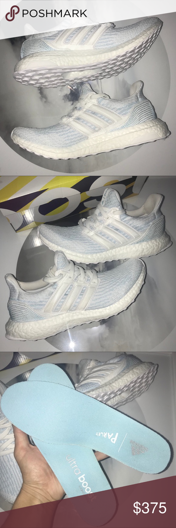 ae5ebea781e3b Adidas Parley Ultra Boost 3.0 White Ice Blue 6 7.5 New in Box. Limited  Edition