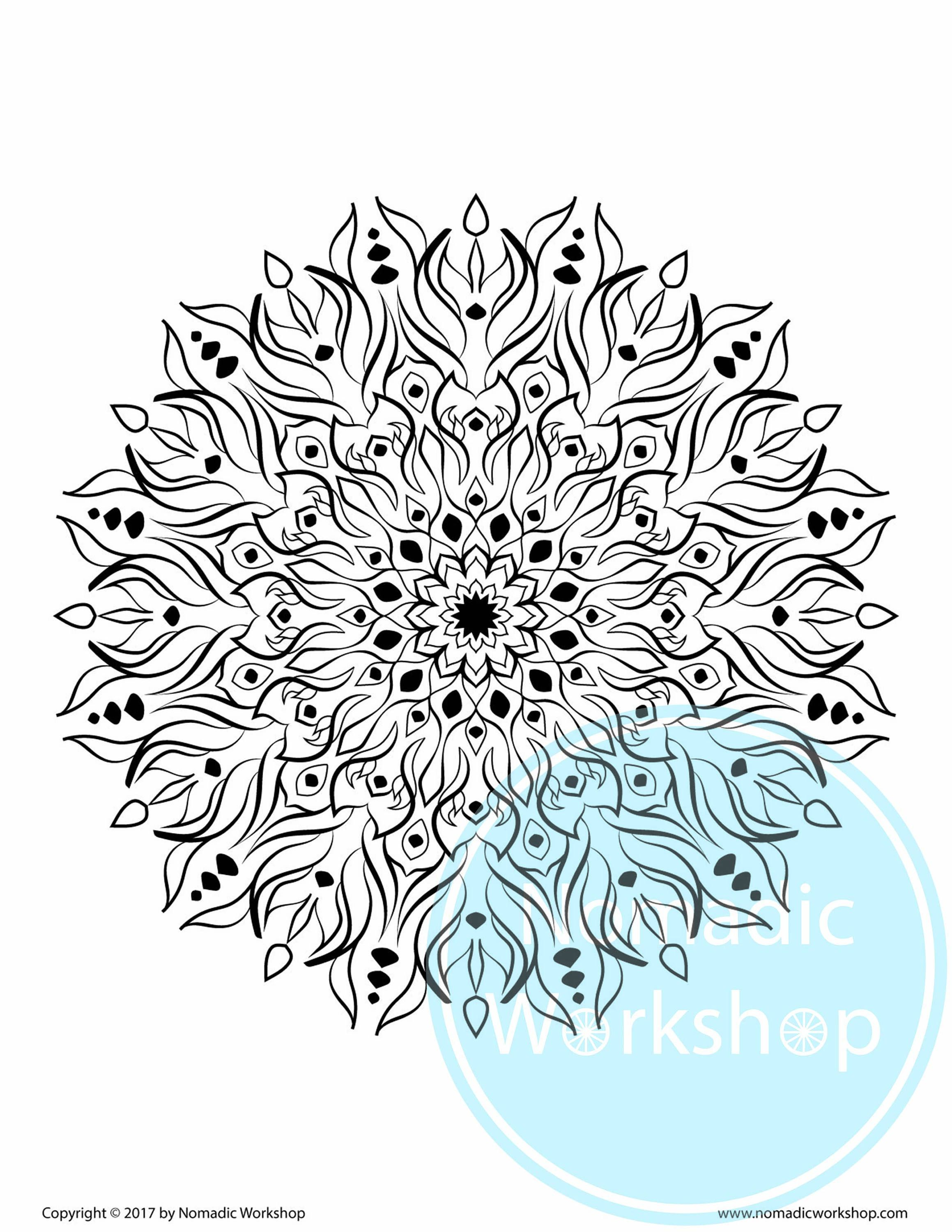 Stress relief coloring pages mandala - Mandala 1 Free Coloring Page Coloring For Adults Adult Coloring Pages Instant