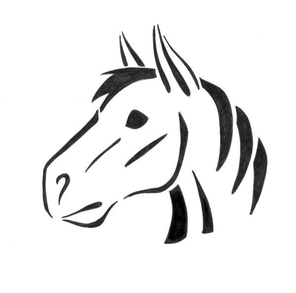 pumpkin template horse  Printable Horse Pumpkin Carving Patterns | Horse Pumpkin ...