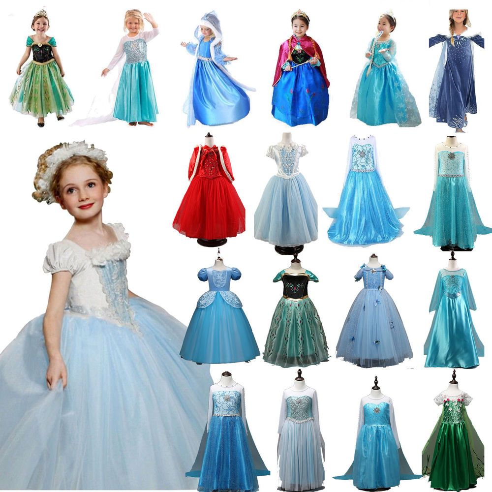 Kids Toddler Girls Cinderella Princess Fancy Dress Cosplay Costume Party Evening
