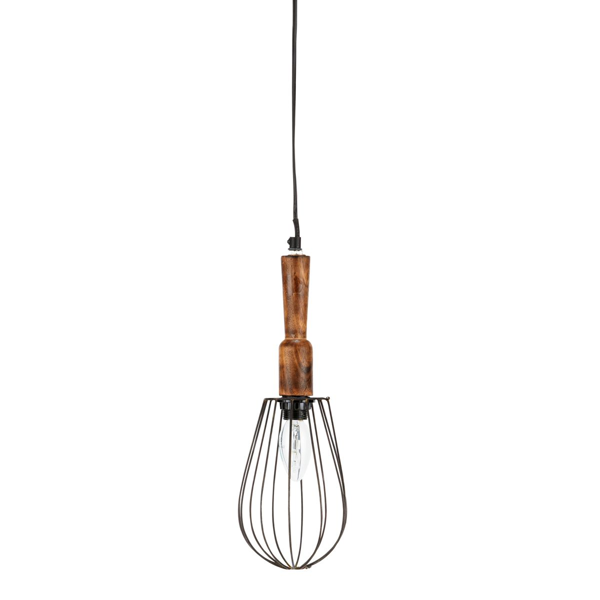 Lámpara de techo tipo lámpara portátil de madera y metal Diám. 13 cm LÉONTINE