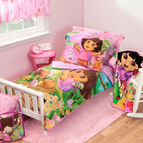 Nice Dora The Explorer And Boots Crib Toddler Bedding Set In A Bag